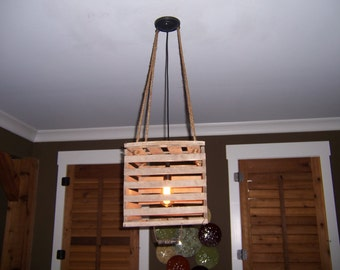 Rustic Egg Crate light fixture