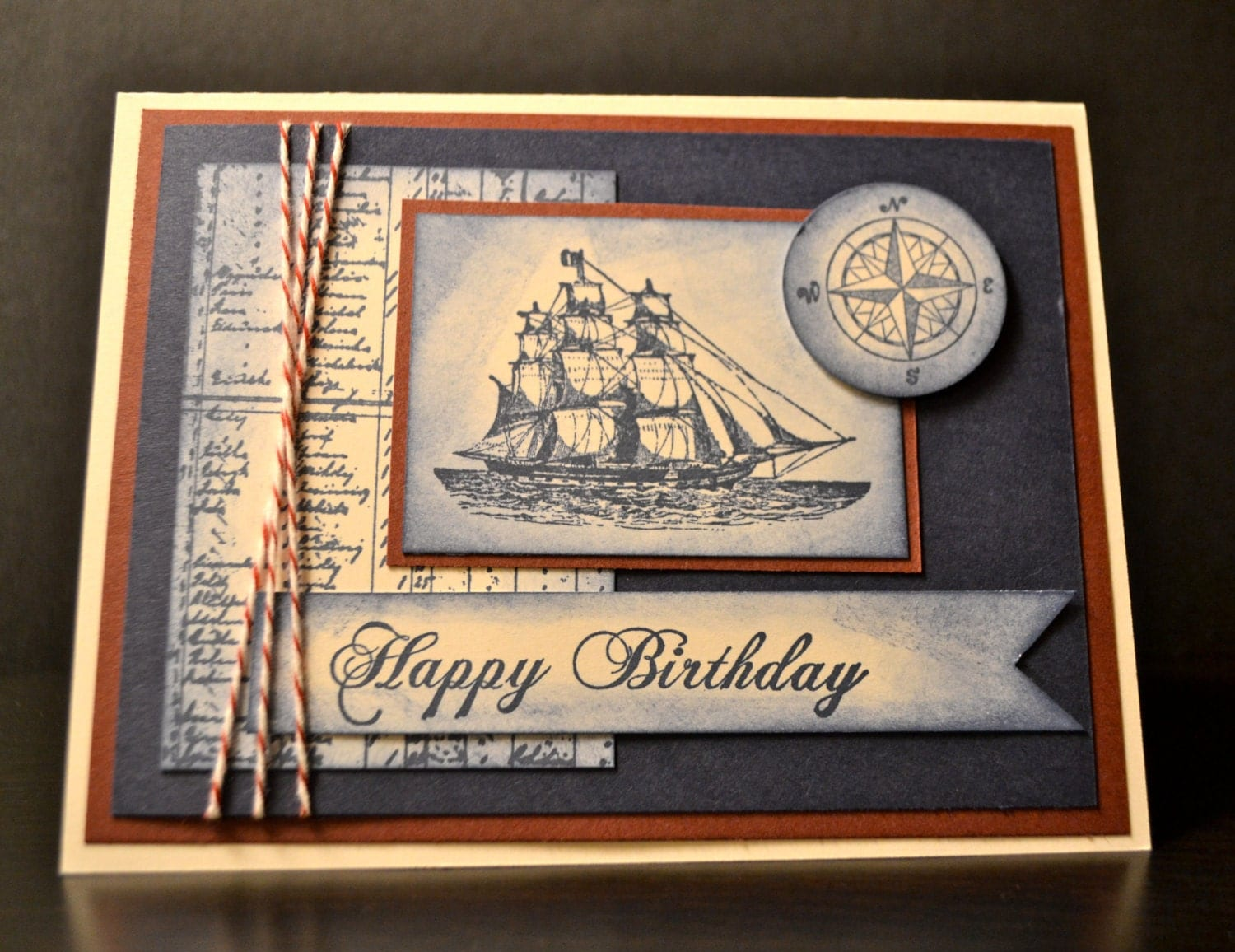 Stampin Up Handmade Card Masculine Birthday Card Nautical