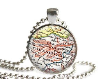 Afghanistan necklace military pendant charm, Afghanistan Military Jewelry, Military Necklace, Military Wife, Military Girlfriend Gift, A329