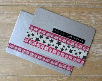 Postcard - Christmas - Nordic - Washi Tape - Dymo Label - Handmade
