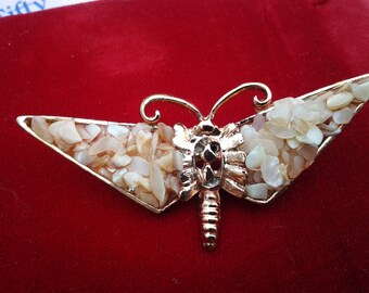 vintage costume jewelry brooch pin animal  butterfly gem stone