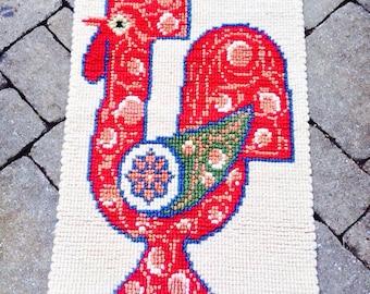 Vintage Mid Century Danish Modern Tapestry Rug
