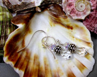 Its A Clear Day - Artisan Handmade Jewelry, Swarovski Crystals with Sterling Silver Components