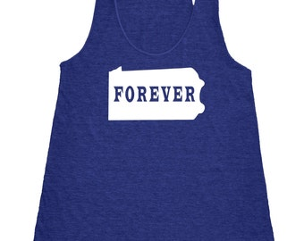 Pennsylvania Forever Tank Top. Women's Tri Blend Racerback Tank Top SEEMBO
