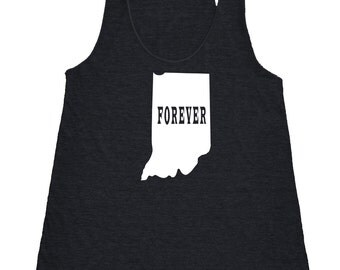 Womens Indiana Forever Tank Top - American Apparel Tri Blend Racerback Tank - XS S M L