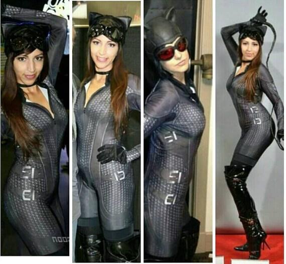 Arkham City Catwoman custom costume cosplay batman ready for Halloween