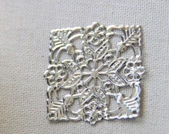 24 pcs of iron filigree 36mm-1626-silver