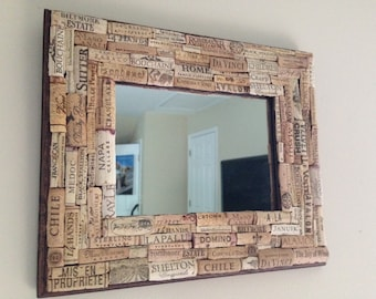 Cork Framed Mirror