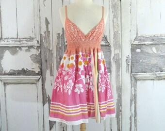 Sale Boho Summer Dress Upcycled Clothing Eco Clothing Funky Artsy Clothing  Xsmall / Medium