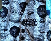 Pin Striped Train and Hot Air Balloon Boy Vest