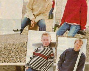 Family Guernsey Sweaters - pdf pattern
