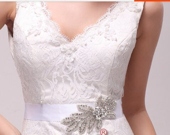 crystal applique, rhinestone Applique, Bridal Applique, beaded rhinestone applique ZP049