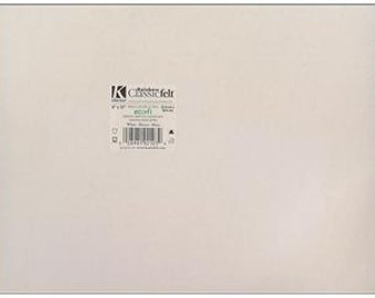 "Kunin Felt 9""x 12"" EcoFi Acrylic Polyester Blend WHITE"
