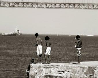 Meninos do Rio Black and White Photography