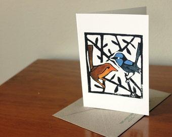Blue Wren Card