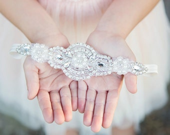 Flower Girl Headband, Rhinestone Headband, Bridal Headband, Crystal Headband, Gatsby Headband, Bling Headband, Wedding Headband