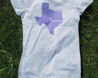 Girl's Austin Texas Screenprinted Shirt