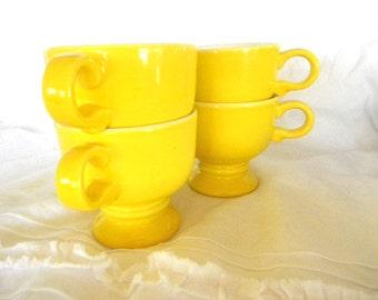 vintage yellow mikasa cup mug set