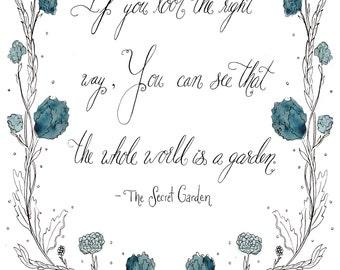Secret garden quote print