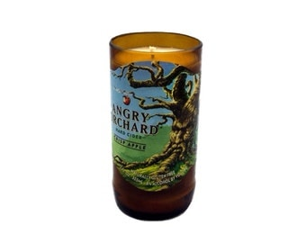 Repurposed Angry Orchard Hard Cider Soy Candle