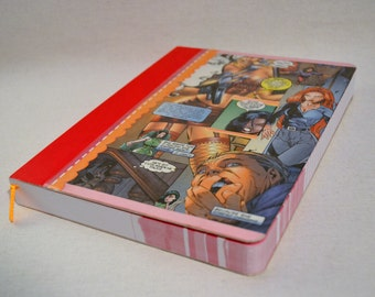 Heavy weight Upcycled Girly Comic Book Journal