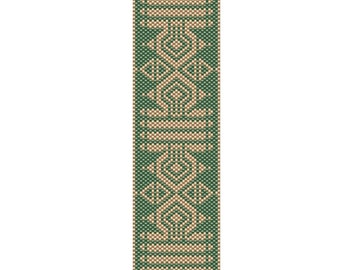 Emerald Isle Peyote Cuff Bracelet Pattern