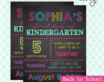 First day of school sign- Back to school- PDF digital file