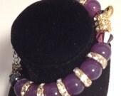 Rhinestone snake bracelet