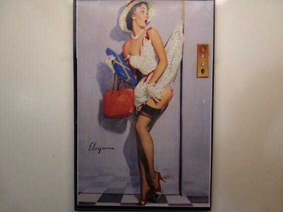 Glittered Poster - Elevator Oopsie!