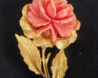 A vintage rose brooch