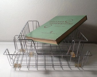 Vintage Wire Metal Office Trays