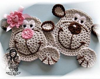 Crochet PATTERN, Applique Monkey, Aplication, Ape, DIY Pattern 20
