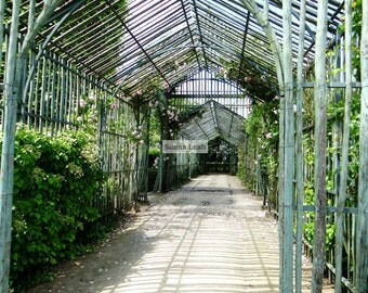 French Trellis House- Original Photogragh on Gallery Wrapped Canvas in Varying Sizes