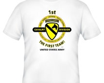 1st Cavalry Division & Vietnam War. U.S. Army Vietnam Veteran Unit And Operation  2-Sided Shirt