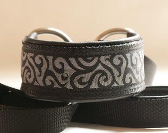 Black Swirls Slip Lead