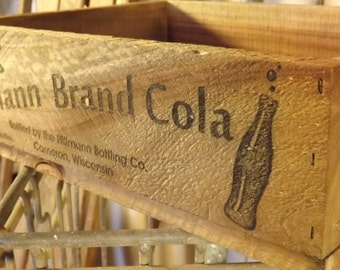Personalized Cola Crate, laser engraved, rustic, wedding, gift, vintage inspired, primitive, home decor, cola