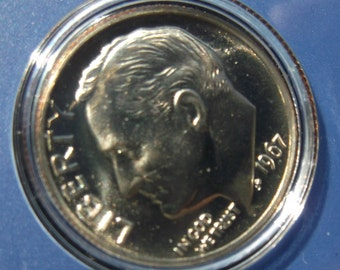 1967 Special Mint Set with CAMEO Dime