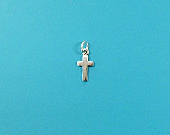 Religious Cross Sterling Silver Petite Charm  - SP625
