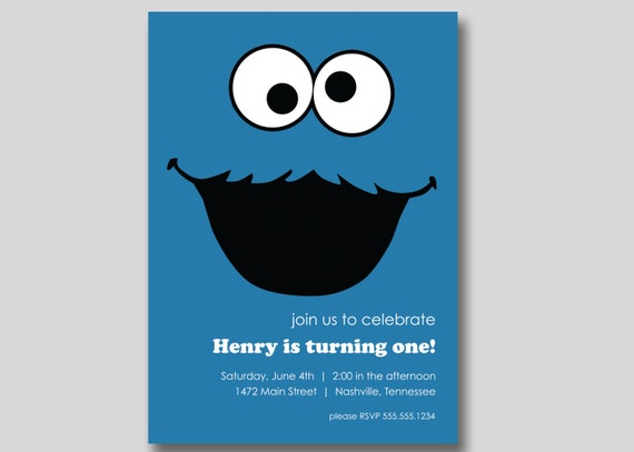 Cookie Monster Invitations was amazing invitations template