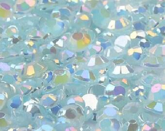 3mm -- 500 pcs AB Jelly Resin Flatback Rhinestones -- Light Blue