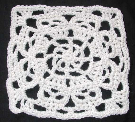 PDF Square Wheel Creepy Granny Skull Afghan Square Crochet