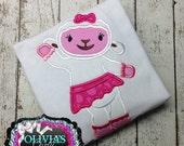Lamb - Doc Mcstuffins - Lambie - Embroidered bodysuit, Applique Shirt