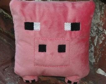 Minecraft Inspired Block Pig - Minecraft Pig - Minecraft Gift - Minecraft Pig Pillow - Minecraft pillow - Minecraft Birthday