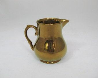 Ceramic Creamer  Copper Luster, Wade Harvest Ware England