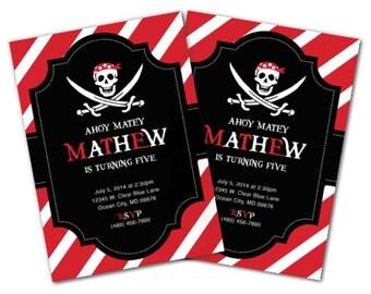Pirate Birthday Party Set, Pirate Invitation, Pirate Party, Pirate invite, Ship, Pirate Centerpieces, Pirate Decoration, Pirate decor (P1)