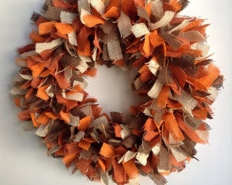 "Fall Burlap Wreath,  24"", 4-Toned Burlap Wreath, Harvest Wreath, Thanksgiving Wreath, Fall Wreath, Autumn Wreath"