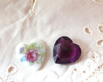 Heart Shaped Glass pieces for Crafting
