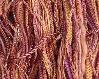 One Off, No.07 Yellow Ochre, Hand Dyed Cotton and Viscose Thread Selection.