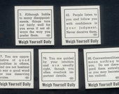 1940's Vintage Weigh Scale Fortune Cards - Altered Art and Books, Collage, Christmas Crackers