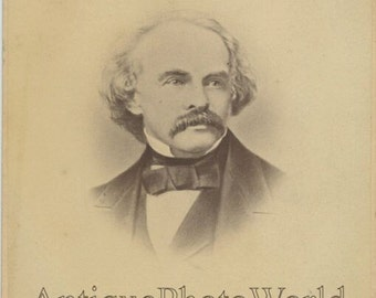 Nathaniel Hawthorne US writer antique cabinet photo